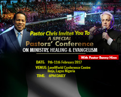 Image result for pastor chris hosts benny hinn lagos nigeria february 9