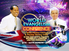 WORLD EVANGELISM CONFERENCE 2019 WITH PASTOR CHRIS AND PASTOR BENNY HINN LONDON